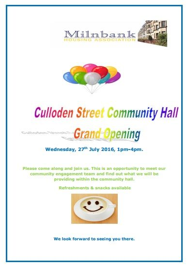 Culloden Street Open Day